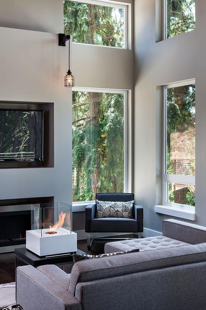 美式风格三层连体别墅大气咖啡色效果图