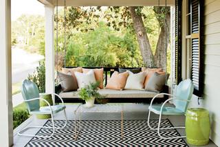 欧式风格2013年别墅梦幻白色家具露台花园设计图