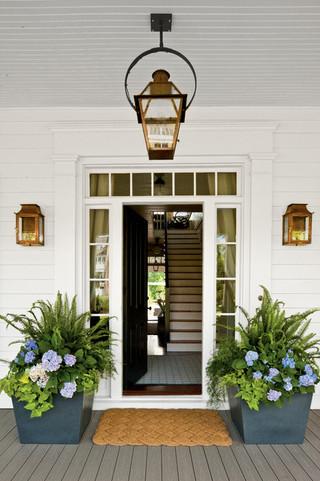 现代欧式风格三层连体别墅梦幻白色简欧风格欧式门厅装修效果图