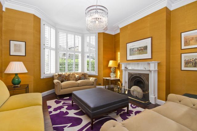 地中海风格家具三层别墅大气白色地毯装修效果图