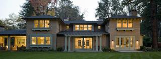 欧式风格客厅2层别墅唯美白色简欧风格效果图