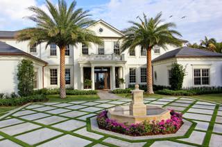 现代欧式风格三层连体别墅欧式奢华白色橱柜效果图