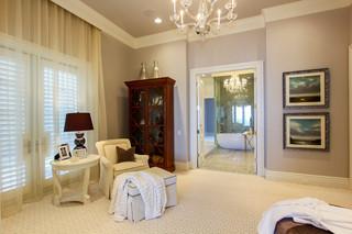 欧式风格2层别墅奢华家具白色欧式家具装修图片