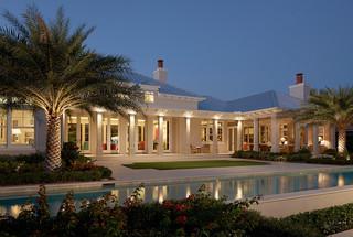 美式风格客厅三层小别墅梦幻白色室内效果图