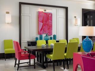 现代美式风格三层双拼别墅梦幻白色地毯设计图