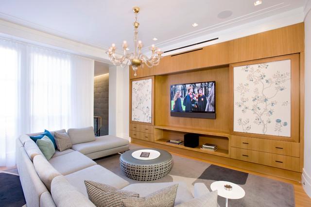欧式风格客厅一层别墅欧式豪华原木色装修效果图