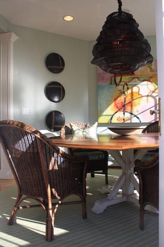 欧式风格家具小三居室古典中式白色中餐厅效果图