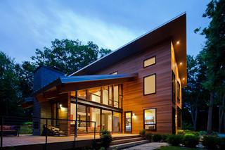 欧式风格卧室三层小别墅简洁原木色家居装修效果图
