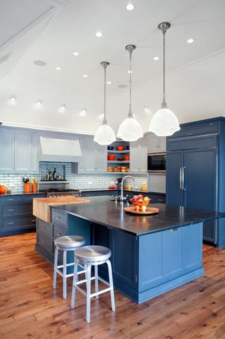 欧式风格复式公寓简洁白色门2013厨房效果图