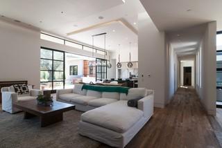 美式风格客厅三层别墅客厅简洁原木色家居装修效果图