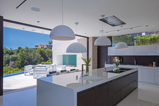 现代简约风格厨房300平别墅艺术家具白色客厅装修效果图