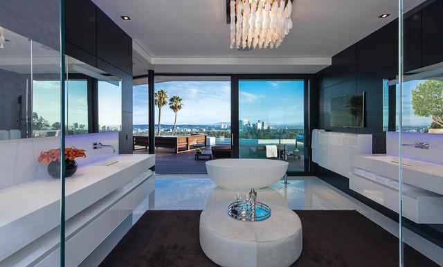 现代简约风格一层别墅艺术白色地毯装修图片
