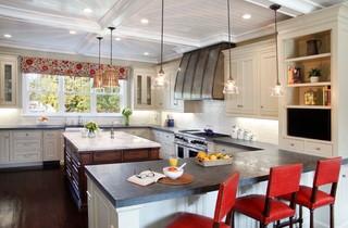 现代欧式风格三层独栋别墅现代简洁灰色窗帘装修效果图