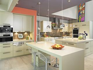 现代简约风格温馨客厅暖色调2012家装厨房装修
