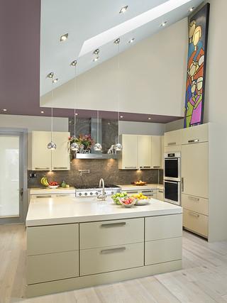 简洁白色地毯2014家装厨房橱柜效果图