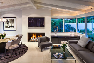 一层半别墅豪华型140平米以上2013客厅窗帘效果图