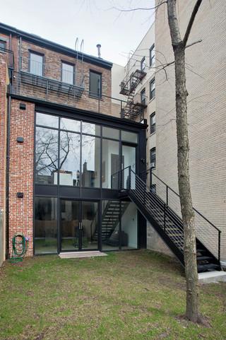 现代简约风格卧室3层别墅富裕型露台花园改造