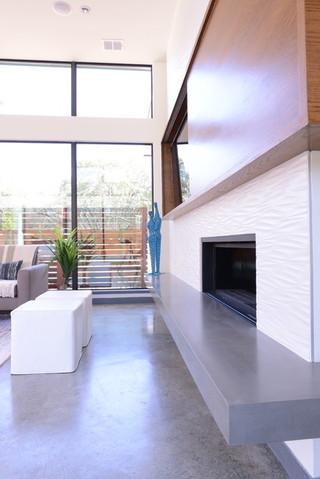 现代简约风格大方简洁客厅冷色调2013电视背景墙效果图