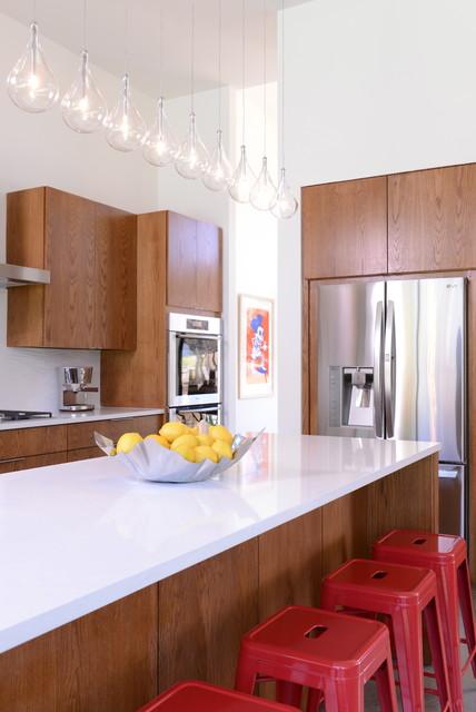 现代简约风格餐厅大方简洁客厅冷色调厨房吧台装修图片