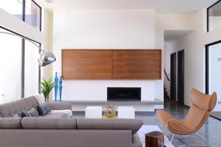 现代简约风格卧室大方简洁客厅冷色调家庭电视背景墙设计图