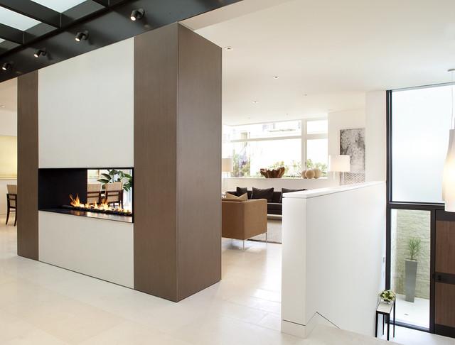 现代简约风格厨房三层平顶别墅时尚客厅鞋柜玄关隔断设计图