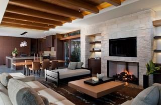 美式风格复式卧室豪华室内现代客厅吊顶效果图