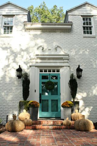 美式风格客厅古典欧式室内入户花园设计图纸