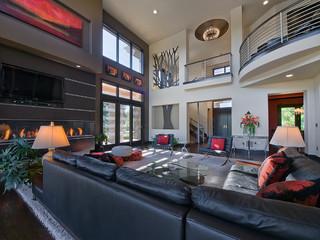 混搭风格2013别墅艺术复式楼梯设计图