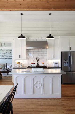 北欧风格客厅小复式房艺术开放式厨房吧台效果图