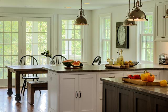 美式风格客厅乡村别墅豪华室内开放式厨房吧台装修图片图片