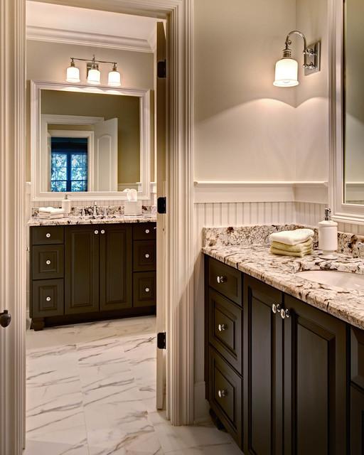欧式风格三层半别墅低调奢华浴室柜图片
