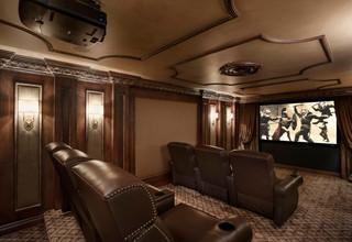 欧式风格家具复式小户型富裕型家庭影音室装潢