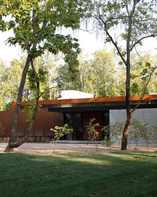 一层半小别墅豪华型140平米以上露台花园效果图