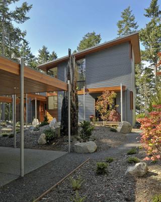 三层双拼别墅豪华型140平米以上露台花园效果图