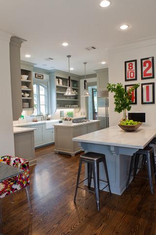 现代简约风格厨房四房一厅20万以上140平米以上开放式厨房吧台装修