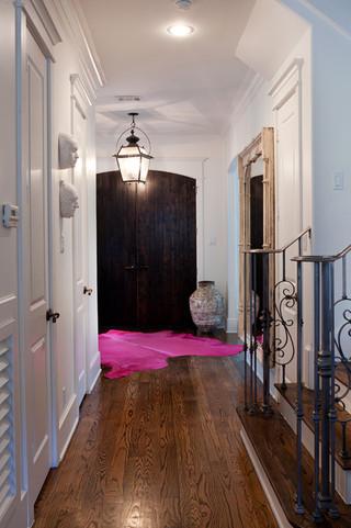 现代简约风格厨房四房一厅20万以上140平米以上室内走廊效果图