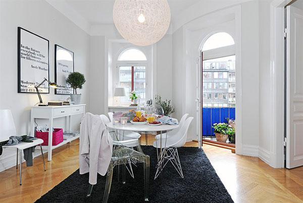北歐充滿家庭感覺的溫馨舒適公寓