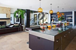 现代简约风格客厅2013别墅及稳重咖啡色客厅过道设计
