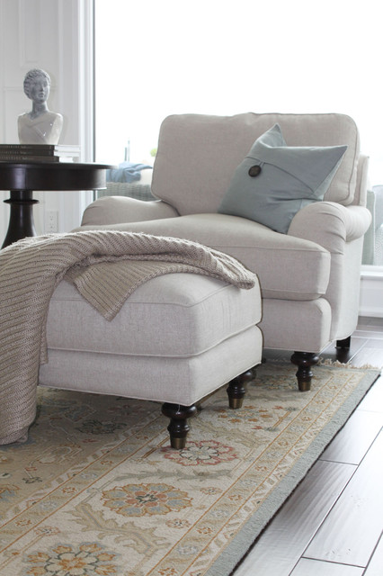 美式风格客厅复式卧室舒适白色简欧风格实木沙发图片