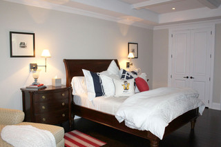 美式风格复式卧室舒适白色橱柜10平卧室效果图