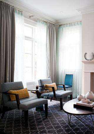 现代简约风格卫生间loft公寓时尚家居装饰白色简欧风格小客厅吊顶装潢