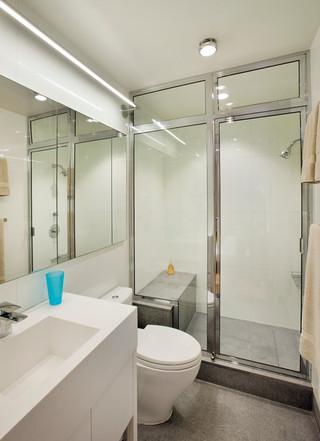 日式风格客厅40平小清新白色4m卫生间装潢