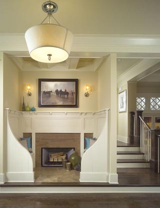 美式风格客厅三层别墅及欧式奢华米色led照明灯具效果图