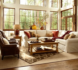 日式风格客厅2013别墅及简单温馨暖色调2014客厅装潢