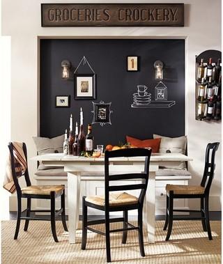 日式风格一层半别墅温馨客厅暖色调红木家具餐桌效果图