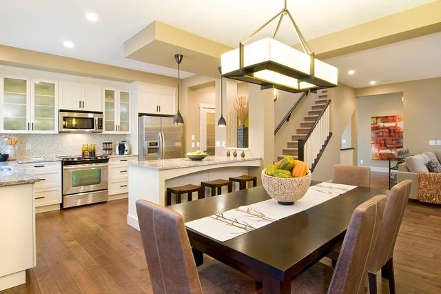 现代简约风格客厅200平米别墅唯美白色橱柜客厅与餐厅装潢-您正在访图片