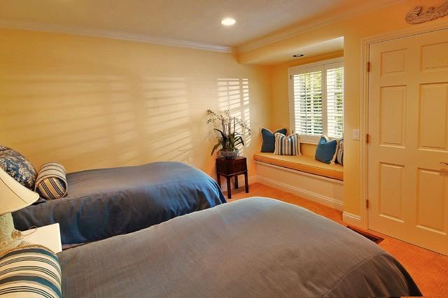 田园风格一层别墅及简单温馨暖色调超小卧室装修图片