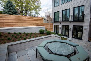 新古典风格客厅三层别墅及浪漫卧室白色家具进门入户花园设计