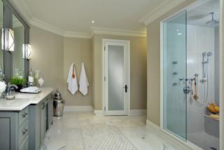 现代北欧风格3层别墅唯美白色室内3平方米卫生间设计