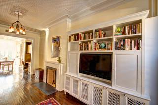 房间欧式风格一层别墅及舒适白色欧式大客厅电视背景墙设计
